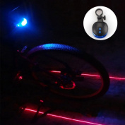 Excellently Popular 5 LED and 2 Laser Bike Light Safety Lamp Rear Flashing Waterproof with 7 Modes