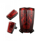 Marvellous 5 LED and 2 Laser Popular Bike Red Light Bicycle Tail Flashing Safety Lamp with Mount Clip