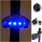 Mighty Popular 5 LED and 2 Laser Bike Light Rear Flashing Warning Cycling Tail Safety with 7 Modes