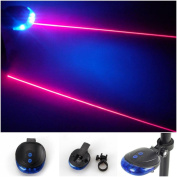 Superior Popular 5 LED and 2 Laser Bike Light Warning Cycling Tail Safety Waterproof with 7 Modes