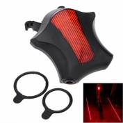 1Pc Supreme 5x LED and 2 Laser Popular Bike Light Safety Flashing Bicycle Brightness Warning Lamp Colour Red