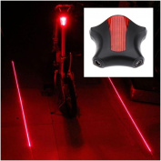 1Pc Tip-top 5x LED and 2 Laser Popular Bike Light Bicycle Brightness Safety Flashing Water Resistant Colour Red