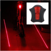 1Pc Optimal 5x LED and 2 Laser Popular Bike Light Water Resistant Safety Flashing Bicycle Brightness Colour Red