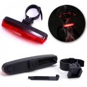 1Pc Important Popular 4 Modes 5x Red LED Bike Light Rear Safety Waterproof Cycling Tail Lamp