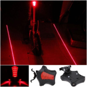 1Pc Optimum 5x LED and 2 Laser Popular Bike Light Bicycle Brightness Rear Taillight Warning Lamp Colour Red
