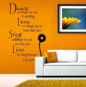 Song English Letters Wall Decal Home Sticker Paper Removable Living Dinning Room Bedroom Kitchen Art Picture Murals DIY Stick Girls Boys kids Nursery Baby Playroom Decoration PP-DM35-0028