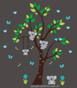 Baby Nursery Kids Children's Wall Decals: Safari Jungle Animals Wildlife Themed 210cm tall X 190cm wide (Inches)