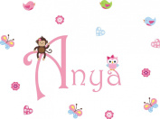 Baby Nursery Children's Wall Decals: Safari Jungle Animals Wildlife Themed 120cm X 60cm (Inches): Repositionable Removable Reusable Wall Art. vinyl wall decals