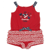 Koala Kids Baby Girls Embroidered All American Cutie 4th of July Sunsuit Outfit