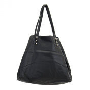 3 in 1 Tote Purse Black Faux Leather Stonewashed Hobo Shoulder Bag Satchel Crossbody