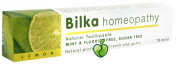 Bilka Homoeopathy Natural Toothpaste Menthol Free Fluoride Free Peppermint Free With Lemon 75Ml