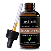 #1 Premium Beard Oil and Conditioner - Get A FRESH, SMOOTH, & ATTRACTIVE Beard - 100% Pure Blend of Premium Ingredients - Fragrance Free, Glass Bottle & Dropper - Gives You A Healthy & Kissable Beard - Award Winning Men's Choice