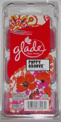 (2 Pack) Glade Wax Melts Poppy Groove 6 count each