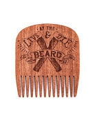 Big Red Beard Combs - Handcrafted No. 5 Beard Comb (Available in 4 Designs)  [Special Edition]