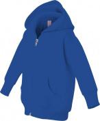 Rabbit Skins Infant Fleece Hooded Zip Front Sweatshirt (Royal Blue)
