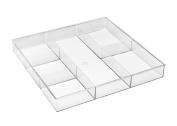 Whitmor 6789-3065 6-Section Clear Drawer Organiser