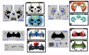 Face Painting Stencils - StencilEyes - Set of 4 Full Face Boy's Favourites