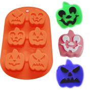 X-Haibei Pumpkin Soap Muffin Cake Chocolate Holiday Gift Silicone Mould 6-cavity Mould
