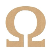 "30cm LETTER ""OMEGA"" GREEK FONT Unfinished Wood/Wooden Letter DIY Home, COLLEGE, SOROITY AND FRATERNITY Decor USA Made"