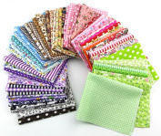 15pcs 20*25cm Fabric Patchwork Craft Cotton Material Batiks Mixed Squares Bundle