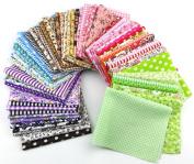 15pcs 20*25cm Fabric Patchwork Craft Cotton Material Batiks Mixed Squares Bundle
