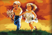 Greek Art Paintworks Paint Colour By Number,Cute Boy and Girl,41cm by 50cm