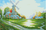 Greek Art Paintworks Paint Colour By Number,Windmill Hut,41cm by 50cm