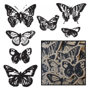 Maya Road Kraft Die-Cuts, Vintage Butterflies, Black, 14-Pack