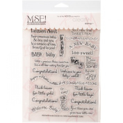 MSE Stamp Sheet, 15cm by 20cm , Baby, Clear