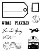 Karen Foster Design, Clear Stamp Set, World Traveller