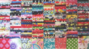 200 Assorted pre cut charm pack 6.4cm squares 100% cotton fabric quilt scrap