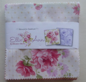 Eleanor Burns Ellie Ann Precut 13cm Charm Pack Cotton Fabric Quilting Squares Assortment Benartex Floral Roses by Benartex