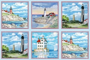 Elizabeth's Studio Lighthouses 60cm x 110cm Quilt Fabric Panel