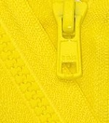 46cm Vislon Zipper ~ YKK #5 Moulded Plastic ~ Separating - 504 Lemon Yellow