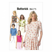 Butterick Patterns B6175E50 Misses' Top Sewing Template, E5