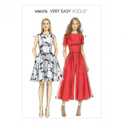 Vogue Patterns V9075A50 Misses'/Misses' Petite Dress and Jumpsuit Sewing Template, Size A5