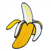 Banana Embroidered Iron on Applique Patches
