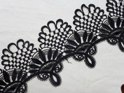 "4.3"" / 11cm Peacock Shape Embroidery Lace Trim for Dress Shawls, Scarves, Hats..sales By the Yard"