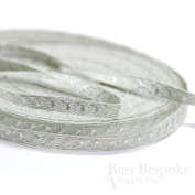 Narrow Silver Bullion Braid Trim with Abstract Pattern