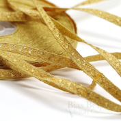 Narrow Gold Bullion Braid Trim with Abstract Pattern