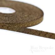Narrow Antique Brass Bullion Braid Trim with Abstract Pattern