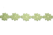 Altotux 2.2cm White Ivory Yellow Cuttable Venice Lace Daisy Flower By 3 Yard