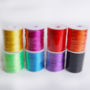ASSORTED colours 2mm x 100 yards Rattail Satin Nylon Trim Cord Chinese Knot