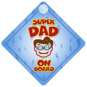 Superhero Dad On Board Car Sign New Baby / Child Gift / Present / Baby Shower Surprise