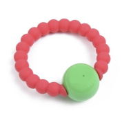 Chewbeads Mercer Rattle, Punchy Pink