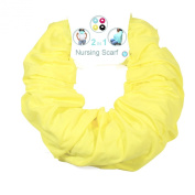 Nursing Cover for Breastfeeding and Pumping- Universal Fit for All Sizes - Infinity Scarf turns into Privacy Cover Up - -Solid Colour for Less Attention - Yellow - Family First