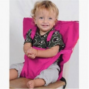 AUCH New/Lovable/Durable Carry Free High Chair Belt for Infant/Baby/Toddle Travel/Eating/Playing,Hot Pink