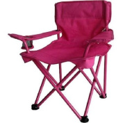 New Kids Folding Camp Chair Portable Beach Cup Holder Children Safe Lock Pink