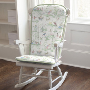 Nursery Rhyme Toile Sage Rocking Chair Pad