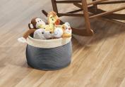 mDesign Knit Baby Organiser Bin, Round, Large